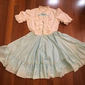 Vintage Square Dancing Bib Dress